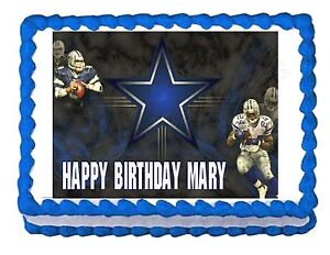 Dallas Cowboys Football Party Edible Cake Image Cake