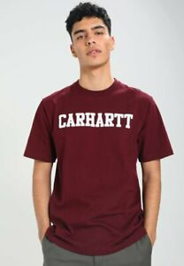T-shirt-uomo-CARHARTT-WIP-S-S-College-I024772-100-cotone-jersey-Mulberry