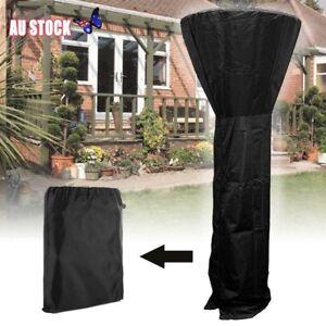 220CM-Outdoor-Black-Patio-Gas-Heater-Cover-Protector-Garden-Polyester-Waterproof