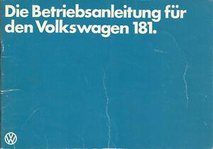 VW-TYP-181-Betriebsanleitung-1979-Bedienungsanleitung-Handbuch-Bordbuch-BA