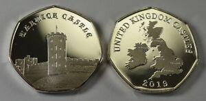 WARWICK CASTLE Silver Commemorative Coin Albums/50p Collectors NEW 2019 SERIES