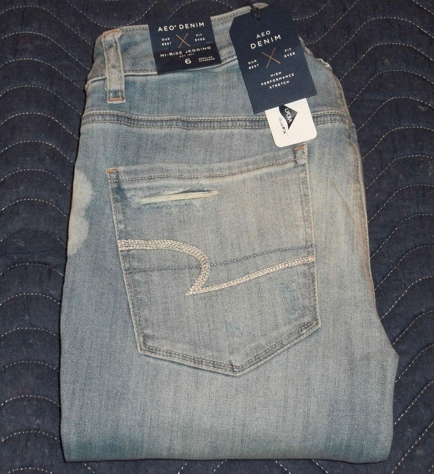 American Eagle AEO Denim Super Stretch Hi-Rise Jegging Jeans Size 6 Regular