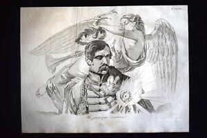 Incisione-d-039-allegoria-e-satira-H-Dembinski-L-Kossuth-Ungheria-Don-Pirlone-1851