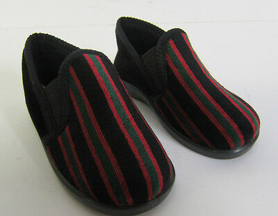 Boys Slippers Style Anthony Navy/Stripe or Red/Stripe