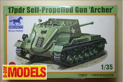 "Carro armato U.S.A. - 17pdr Self-Propelled Gun ""Archer"" - Bronco Models kit 1/35"