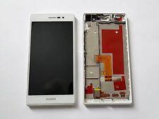 Original HUAWEI ASCEND P7 L10 LCD DISPLAY Digitizer & FRAME White - Grade A