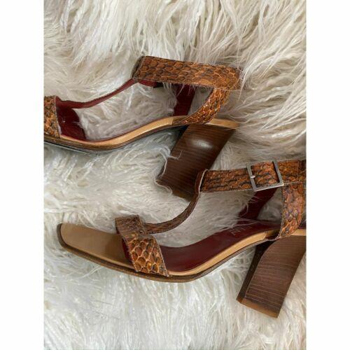 Anne Klein 10M Snake sandels Skinny wedge heel