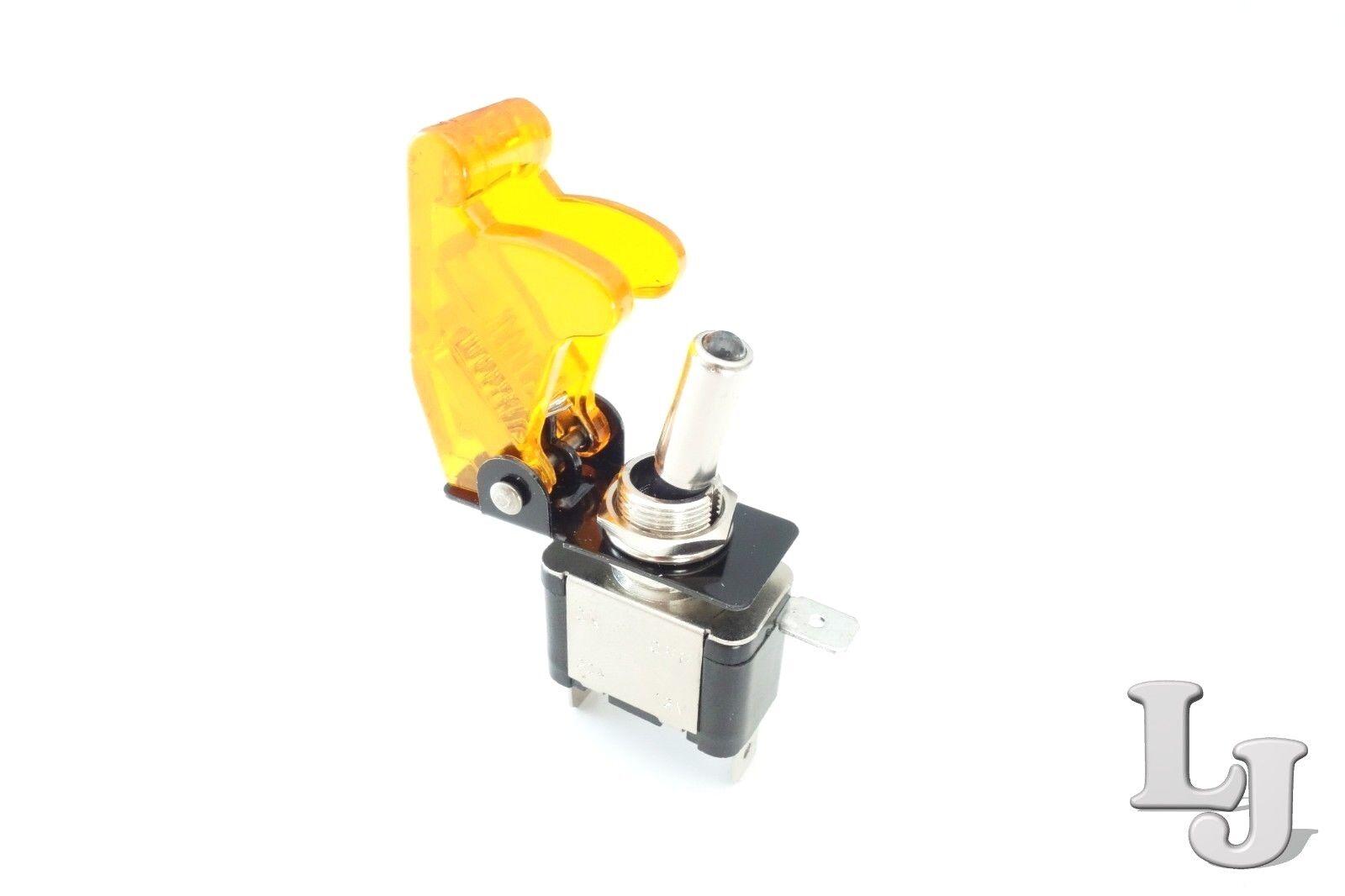 12mm Kippschalter KFZ Boot Schalter Schutz Kappe Schutzkappe Gelb Transparent f