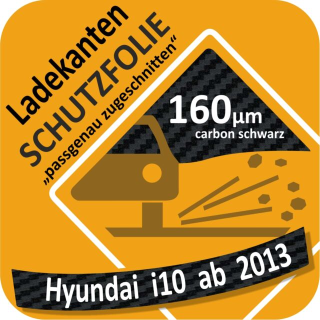 Hyundai I10 I 10 Ab 2013 Film de Protection la Peinture Chargement Seuil