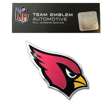 Promark New NFL Arizona Cardinals Color Aluminum 3-D Auto Emblem Sticker Decal