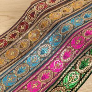 1-Roll-Vintage-Floral-Brocade-Jacquard-Ribbon-Trim-Fringe-DIY-Upholstery-Crafts