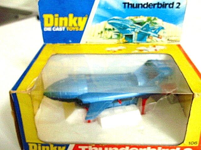 DINKY TOYS 106 Thunderbird 2 + 4 Nuovo di zecca con scatola Gerry Anderson originale vintage
