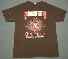 Kansas City KC Rockfest 2010 T-Shirt Black size L Godsmack Seether Papa Roach