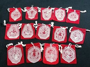Waterford Crystal 12 Days of Christmas Ornaments Set of ...