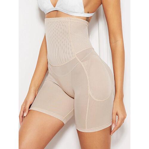 Women High Waist Shapewear Padded Body Shaper Control Tummy Butt Lifter Corset