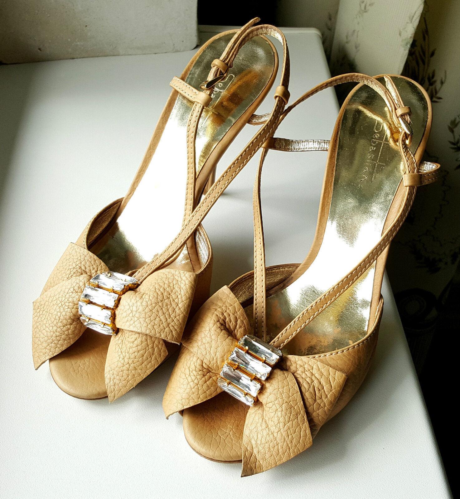 SEBASTIAN High Heel Leather Sandals gr. EUR 38