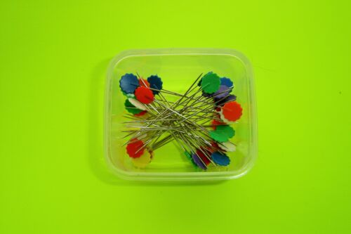 "1 3//4/"" Long Shaft 50 Dritz Multi Colored Flower Head Pins 2 1//8/"" O.A.L."