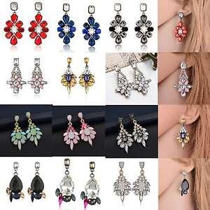 1Pair-Women-Rhinestone-Crystal-Resin-Ear-Stud-Eardrop-Earring-Fashion-Jewelry