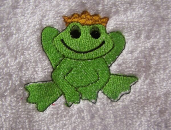 """personalized Embroidered Frog Prince Swimming/bath Towel"" 100% Cotton"