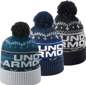 de341418fac Under Armour 2018 ColdGear Retro UA Pom Pom 3.0 Winter Beanie Hat
