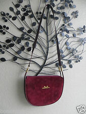 Authentic Comtesse Germany Shoulder Bag/Cross Body  Cherry Leather w/gold metal