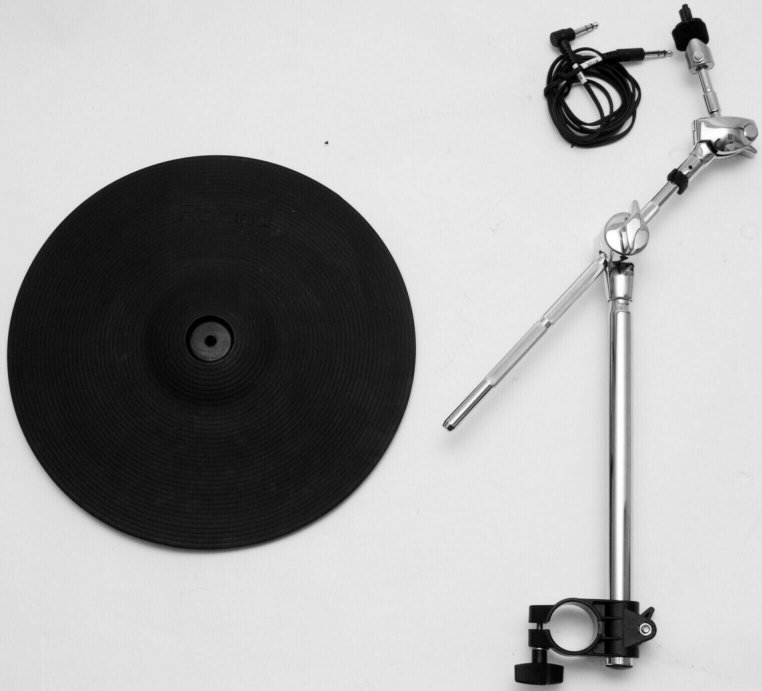 Roland CY-13R 13  Ride Cymbal Electronic + Arm Mount Clamp V-Drums Triple Zone