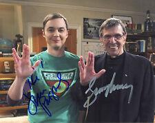 REPRINT - JIM PARSONS 2 Leonard  Nimoy Sheldon BIG BANG THEORY autograph photo