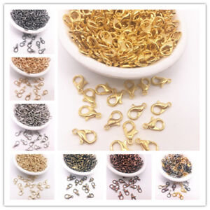 50pcs-12mm-Jewelry-Loose-Lobster-Parrot-Clasp-Claw-For-DIY-Necklace-Bracelet