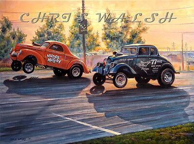 Drag Racing action prints - Ronnie Nunes, Fremont Drag Strip circa 1967