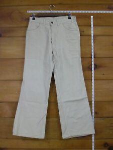 Levi S Blanco Tab Beige Suave Parte Inferior De Campana Pantalones Talon Cremallera Boton De 2 Digitos 30x30 Ebay