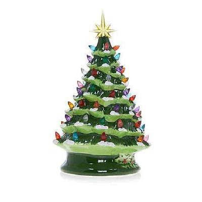 Winter Lane 14 Led Lighted Ceramic Musical Christmas Tree Green New In Box Ebay
