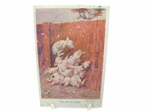 Antique-colour-printed-postcard-The-Way-Of-An-Eagle-Bonzo-dog-scene