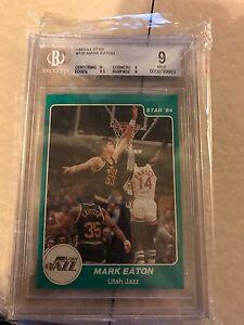 1983-84 Star #138 Mark Eaton BGS 9 (rookie) - 2 9.5 SUBGRADES!