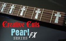 Tony Iommi Cross MOP DOTBUSTER Fretboard Marker Inlay Stickers for ANY GUITAR