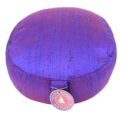 Yoga und Meditationskissen Rohseide Blau XL