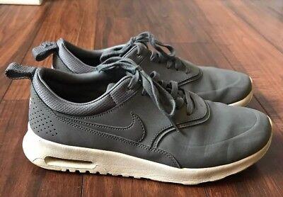 Women's Nike AIR MAX THEA Premium PRM COOL GREY SAIL PEWTER 616723 008 Sz 9 | eBay