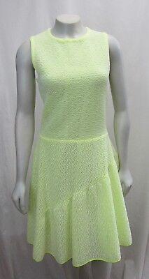 Christian Dior Paris 8 Neon Green Lace Dress Sleeveless Fluorescent A Line Ebay