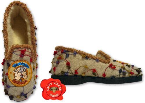 Chaussons Charentaises Pantoufles TAMALOU FEMME 38//39 100/% laine sans écusson