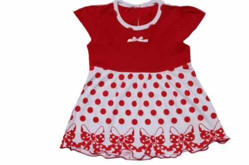 Baby Girls Frock Size 1,2 Beautiful Polka Dots Red /& White-100/% Soft Cotton