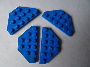 LEGO 3 x 6 stud blue wedge plate cut corners partie 2419 							 							</span>