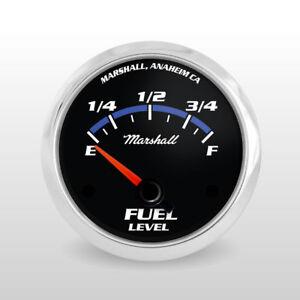 Marshall-Blueline-Fuel-Level-Gauge-73-10-Ohm-Stainless-Bezel-Cobalt-Accents