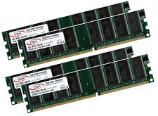 4x 1GB 4GB Low Density DDR RAM Speicher PC 2700 333 Mhz DDR1 184pin PC2700U DIMM