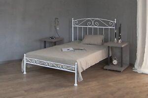 Metallbett weiß 120x200  metallbett weiss ecru oder schwarz 120x200 aus schmiedeeisen inkl ...