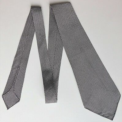Houndstooth check tie Vintage 1930s 1940s 1950s black and white WW2 English