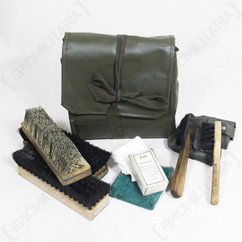 Issued Army Military Surplus Shoe Travel Bag ORIGINAL SWISS BOOT CLEANING KIT