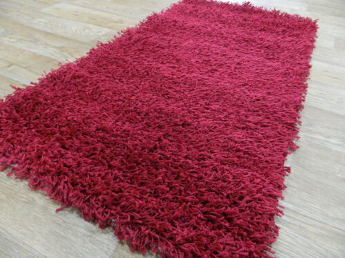 Small Bedside Toronto Red Shaggy Rugs 60x110cm Last Few To Clear
