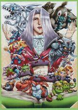 (60)USA Seller MTG Wow Yugioh Toon Kingdom & Monster Character Sleeves 67 × 92mm