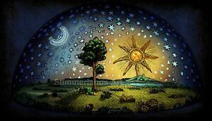 Flache Erde Karte Kaufen.Details Zu Flammarion Gravierung 1888 Flache Erde Kunstdruck Selten Grosse 70x40cm