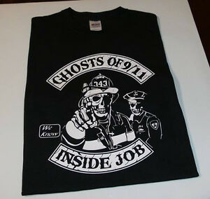 Ghost of 911 inside job t shirt sept 11 nypd nyfd twin for 5 11 job shirt embroidery