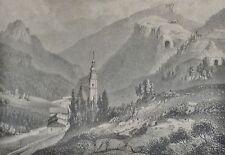 ALPEN - Stahlstich: um 1865: GRIES am Brenner /Brennerbahn  v Kurz n Obermüllner